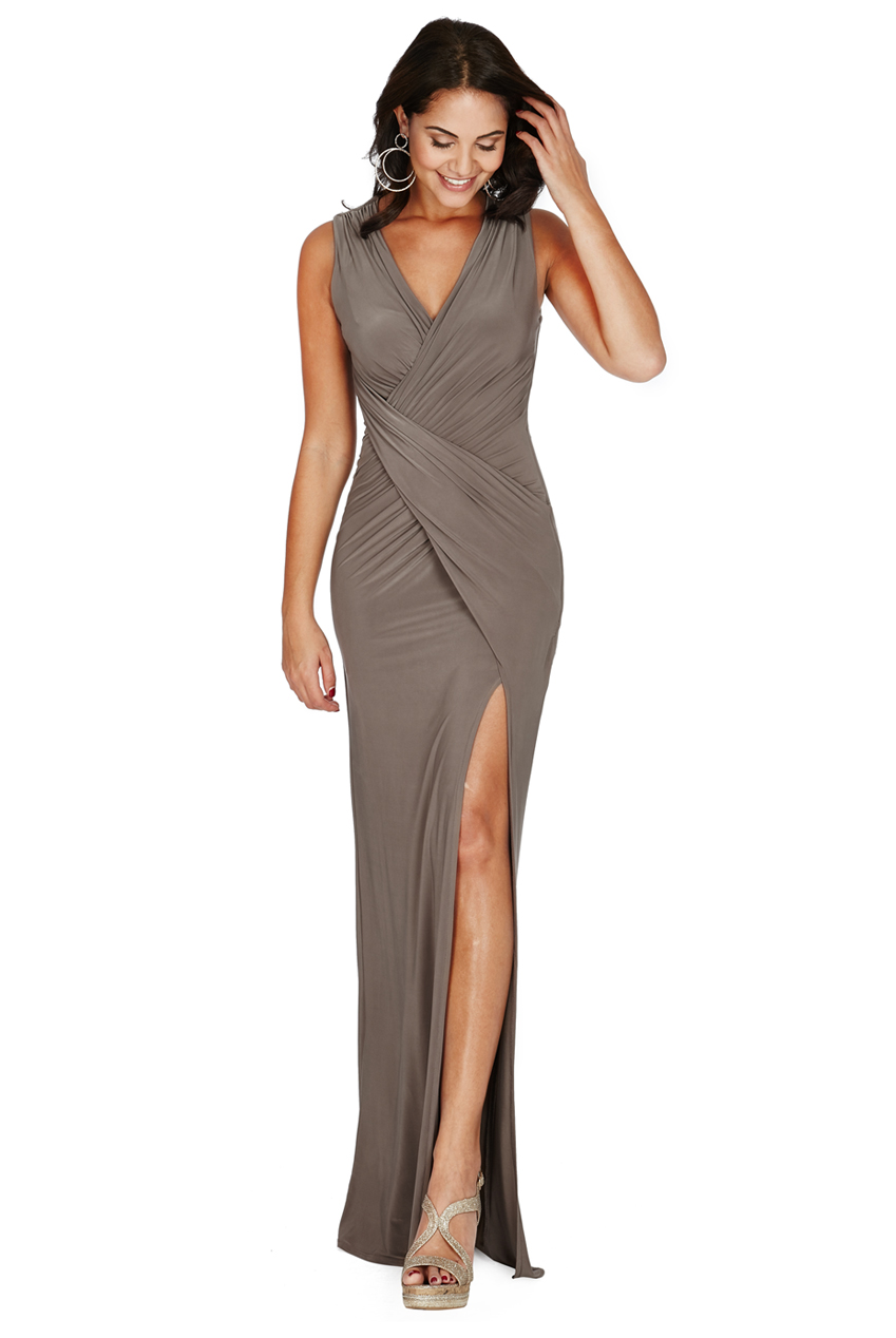 Wholesale Front Split Maxi Dress
