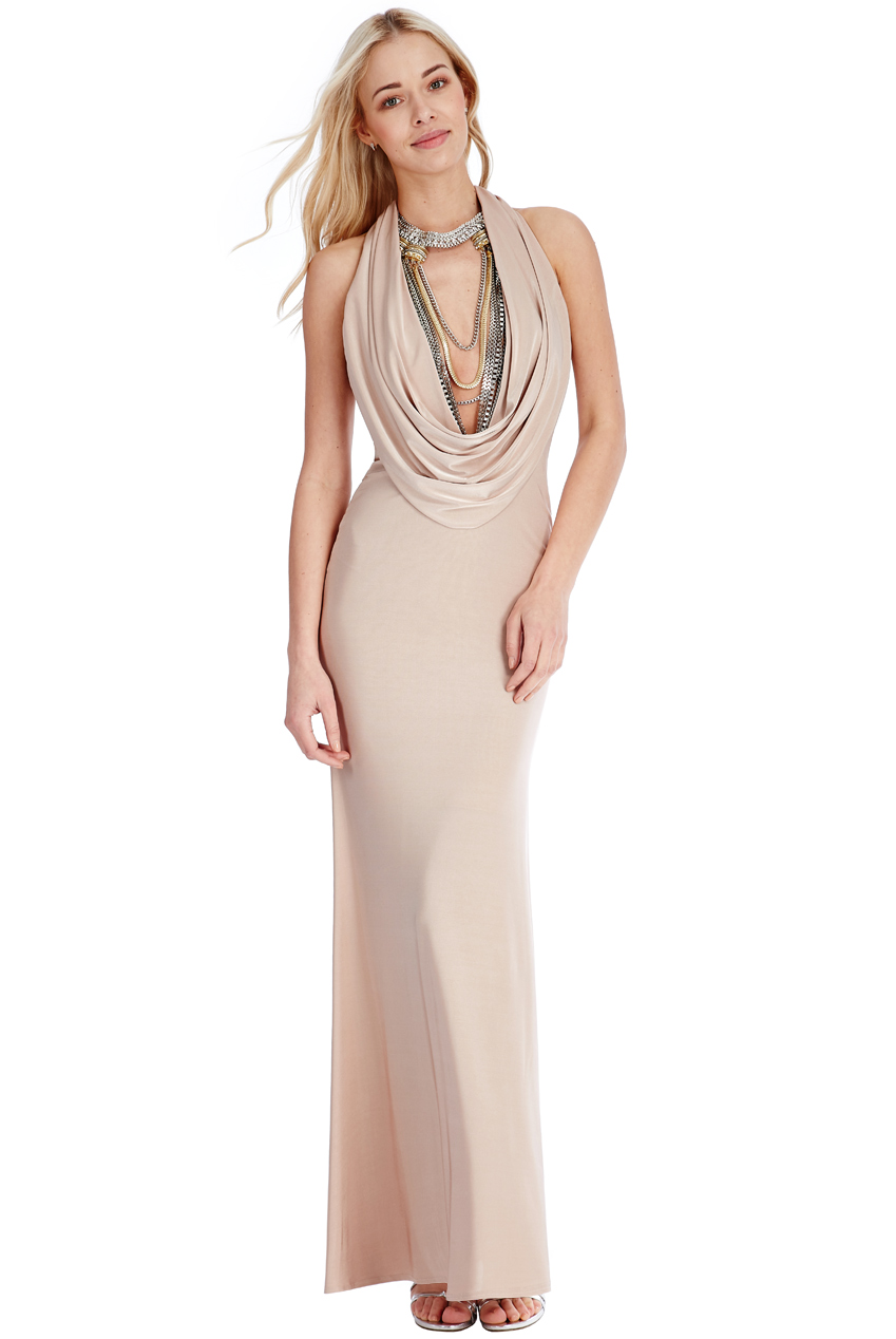 Wholesale Cowl Neck Maxi Dress