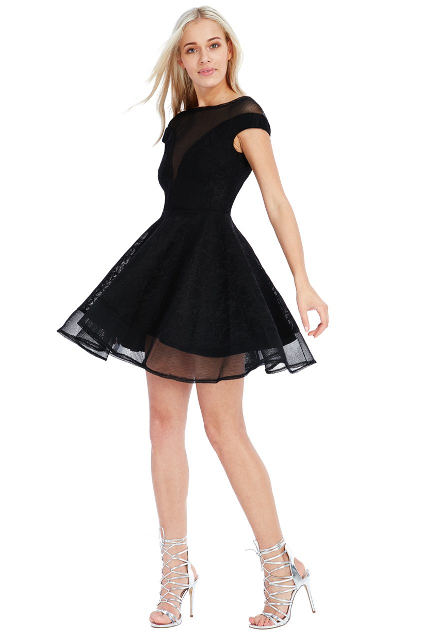 Wholesale Structured Lace Skater Dress