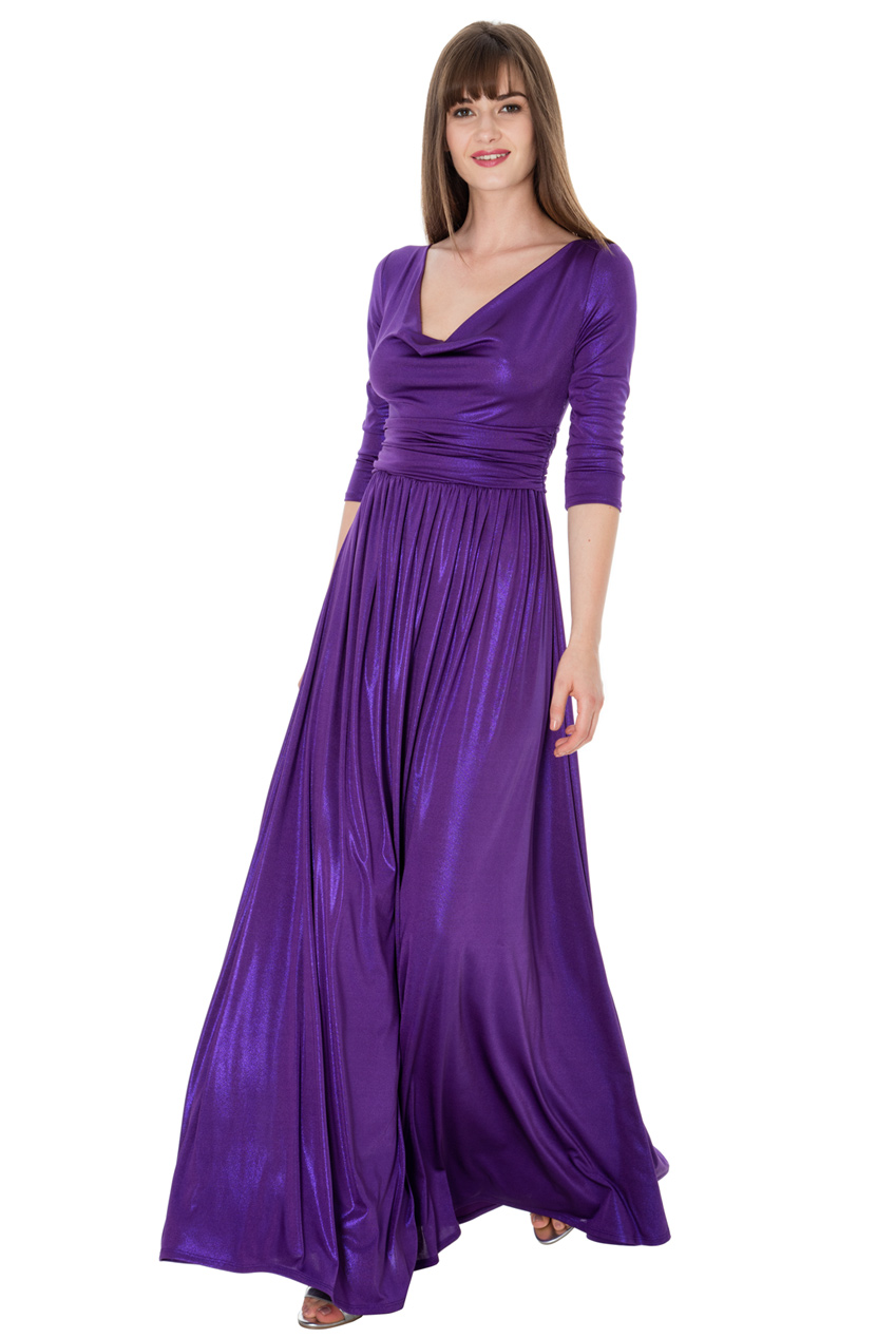 Wholesale Three Quarter Sleeved Maxi Dress