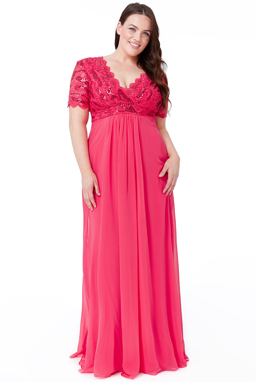 Wholesale Plus Size Chiffon Maxi Dress - City Goddess