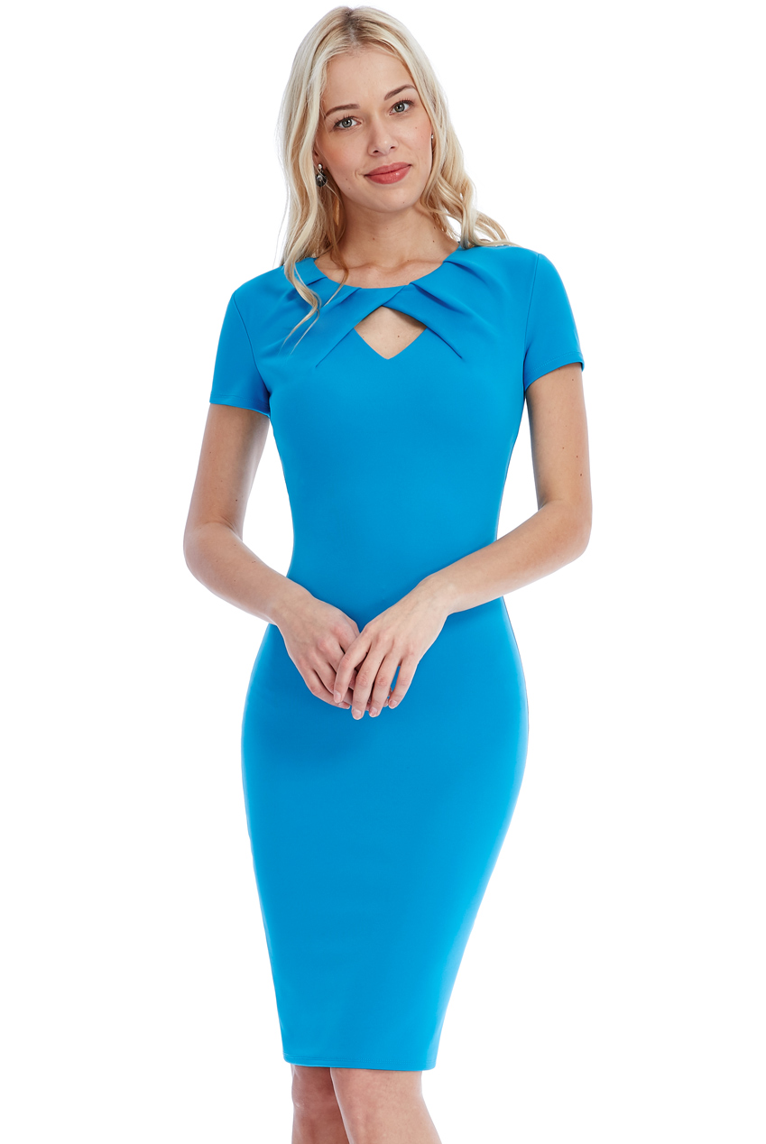 Wholesale Keyhole Midi Dress