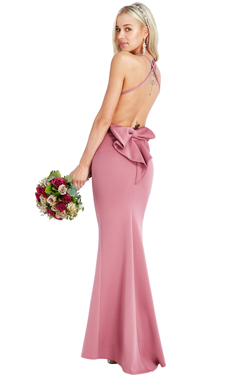 Wholesale Bow Detail Maxi Dress