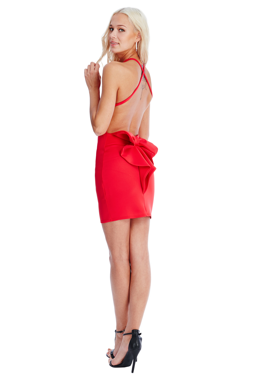 Wholesale Bow Detail Mini Dress