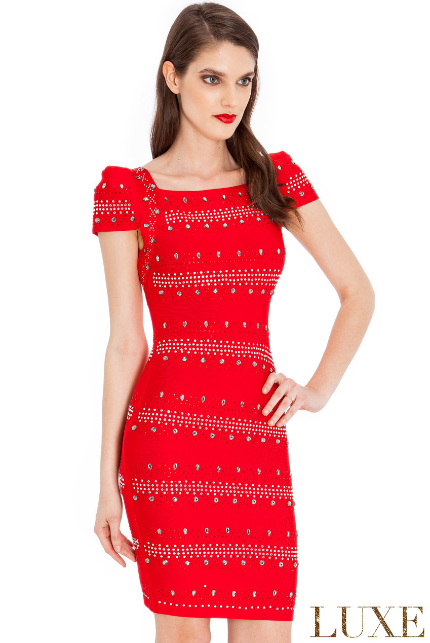 Wholesale Crystal Embellished Bodycon Dress
