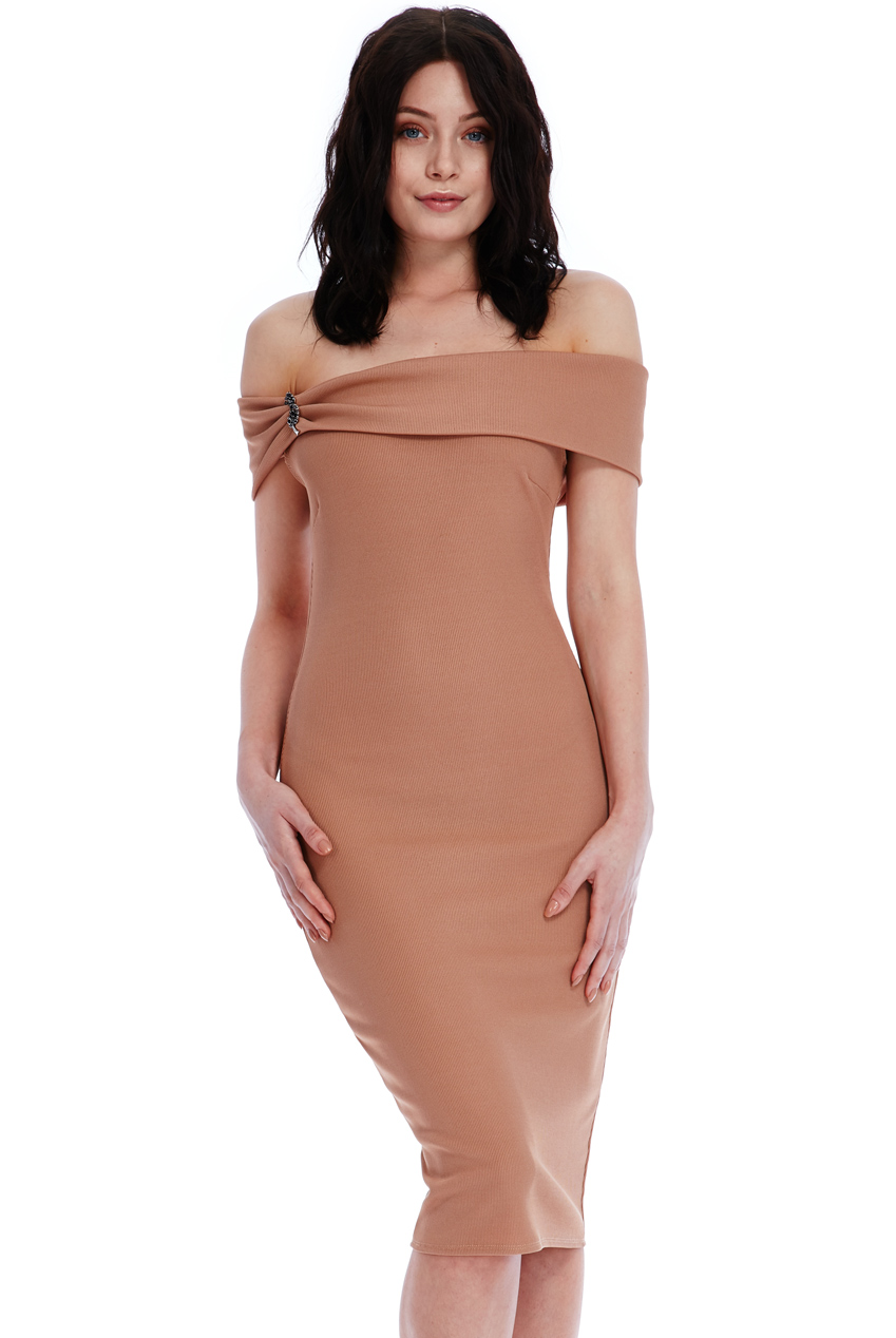 Wholesale Multi Neckline Midi Dress