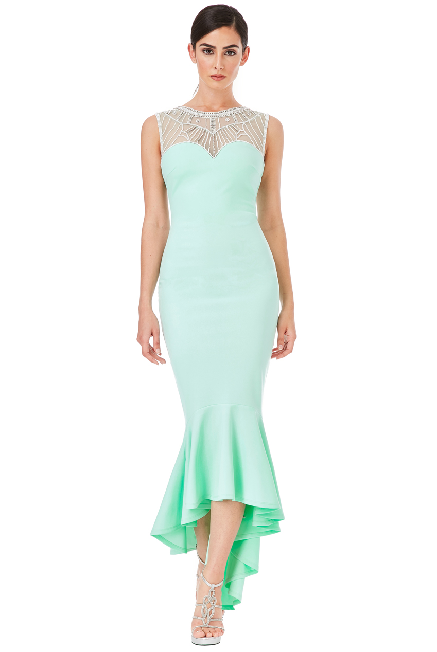 Wholesale Embellished Fishtail Maxi Dress