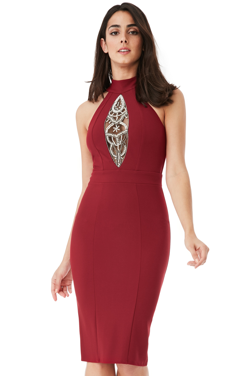 Wholesale Embellished Midi Dress