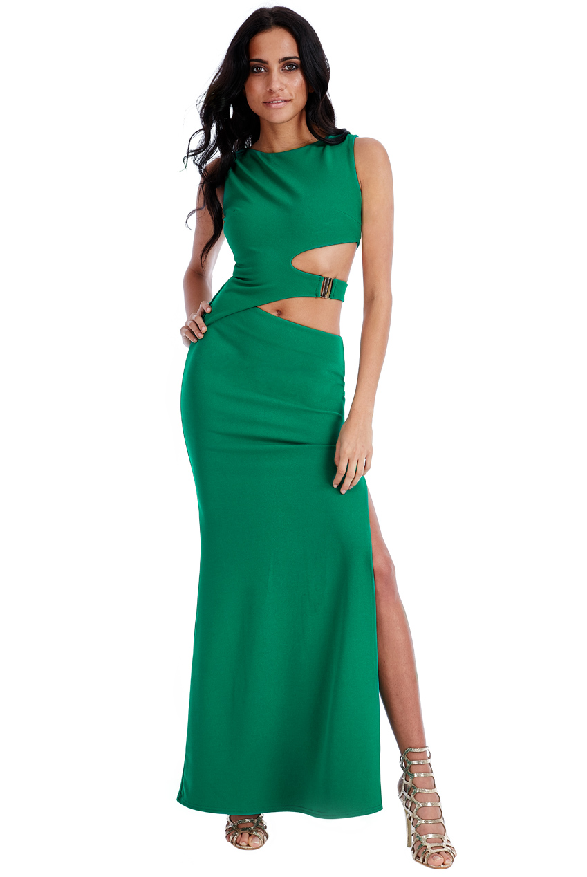 Wholesale Waist Cutouts Maxi Dress
