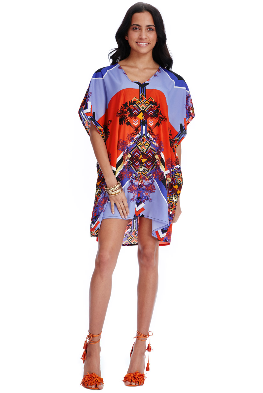 Wholesale Art Deco Print Summer Mini Dress