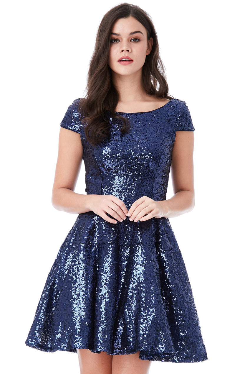 Wholesale Sequin Skater Dress