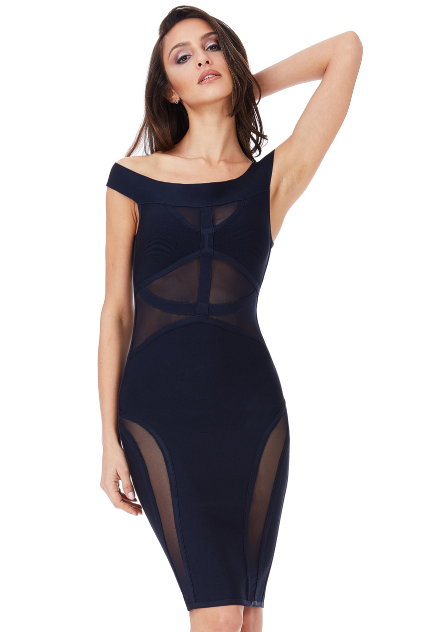 Wholesale Bardot Cut Out Bodycon Dress