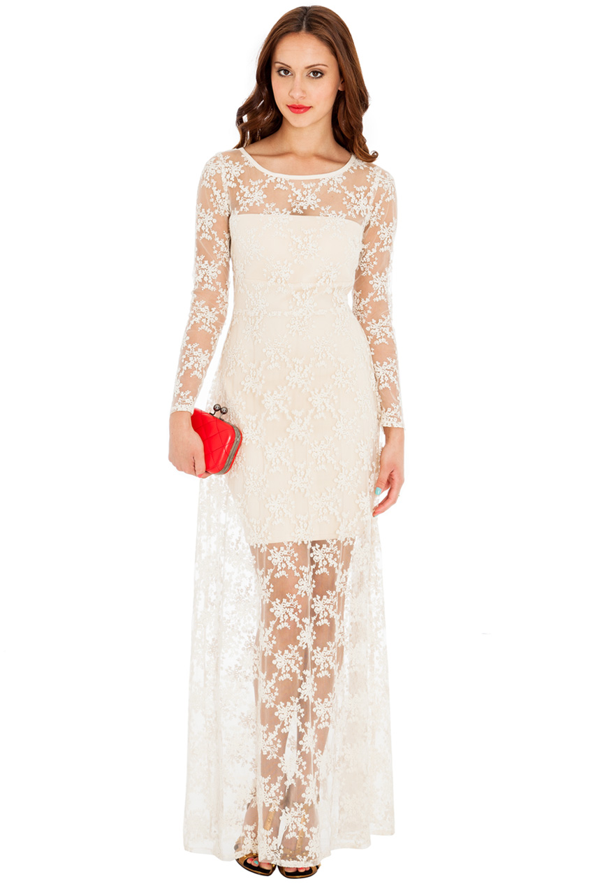 Wholesale Timeless lace maxi dress in the style of Kimberley Walsh