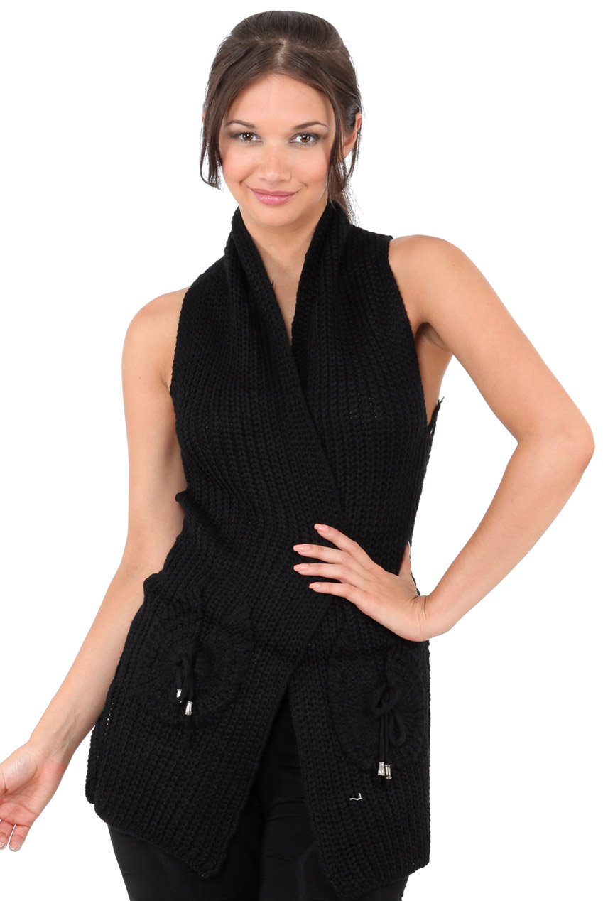 Wholesale Sleeveless Crochet Cardigan