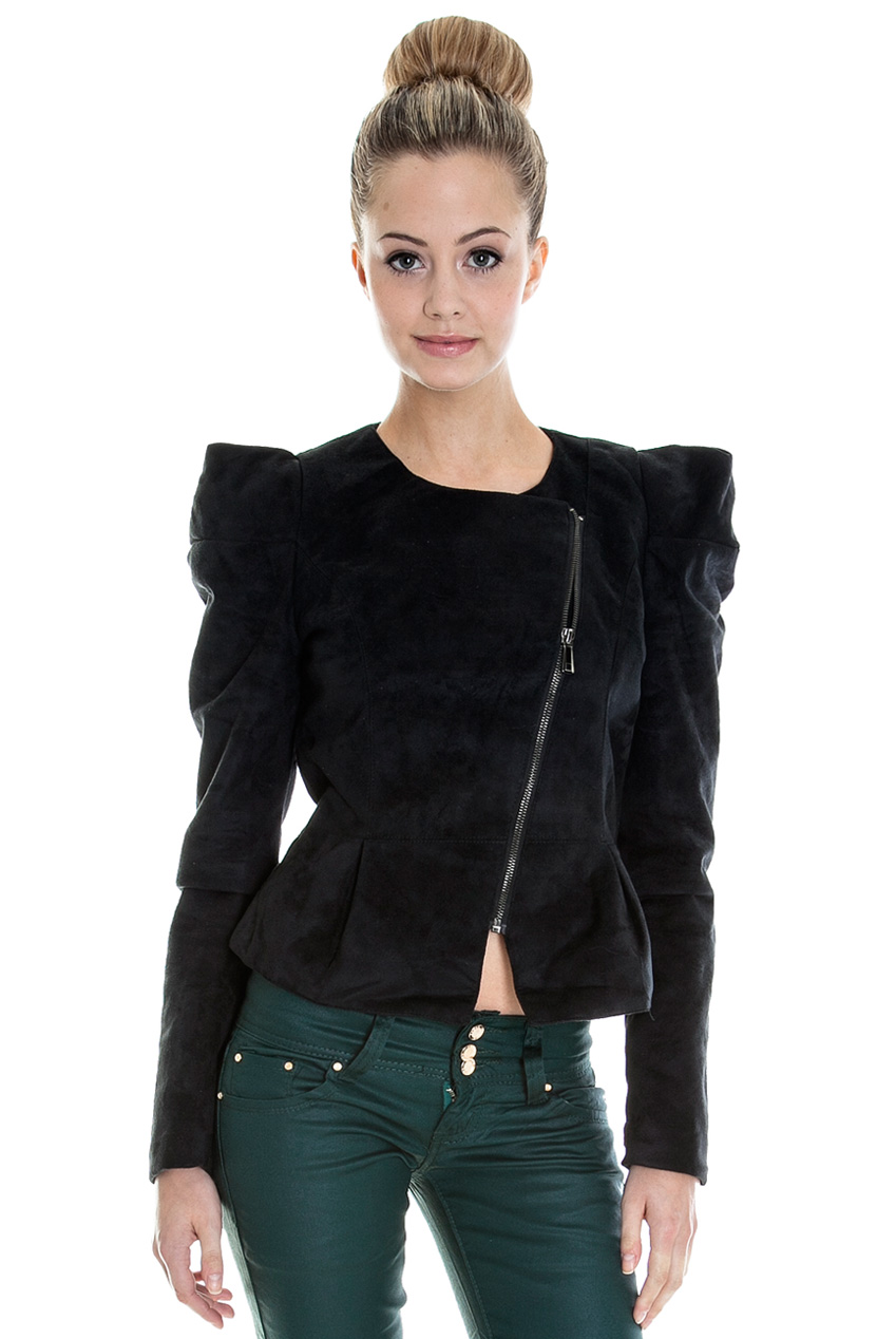 Wholesale Side Zip Suedette Jacket