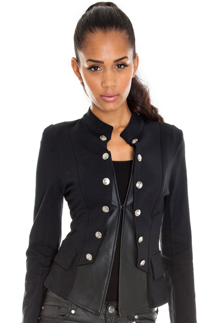 Wholesale Military PU and Ponte Blazer