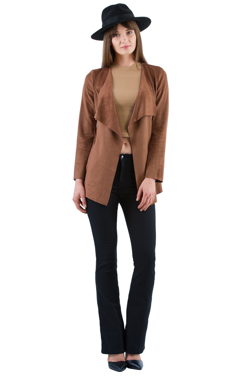 Wholesale Faux Suede Jacket