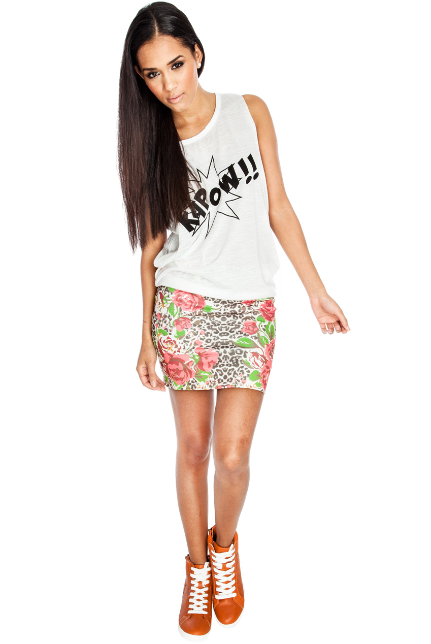 Wholesale Floral Mini Skirt