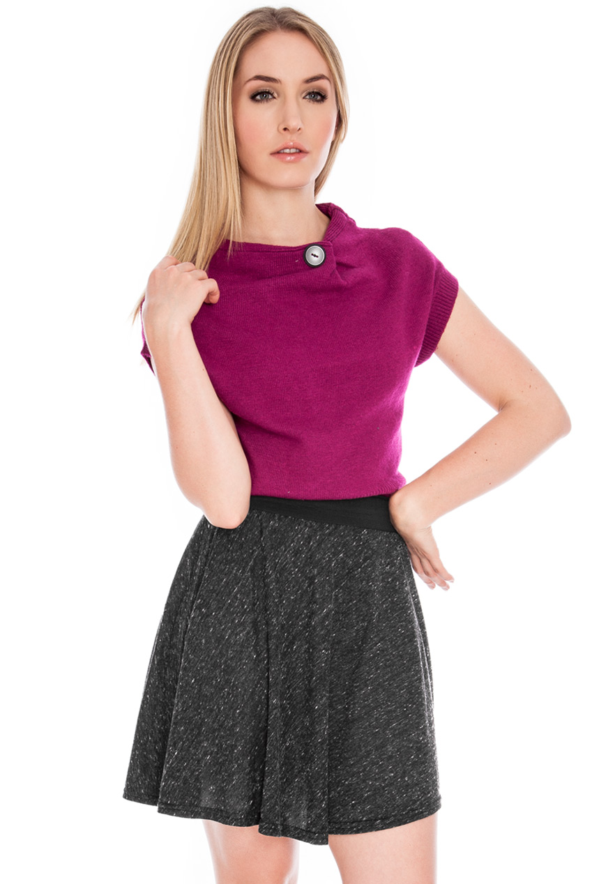 Wholesale Marl melange skater skirt
