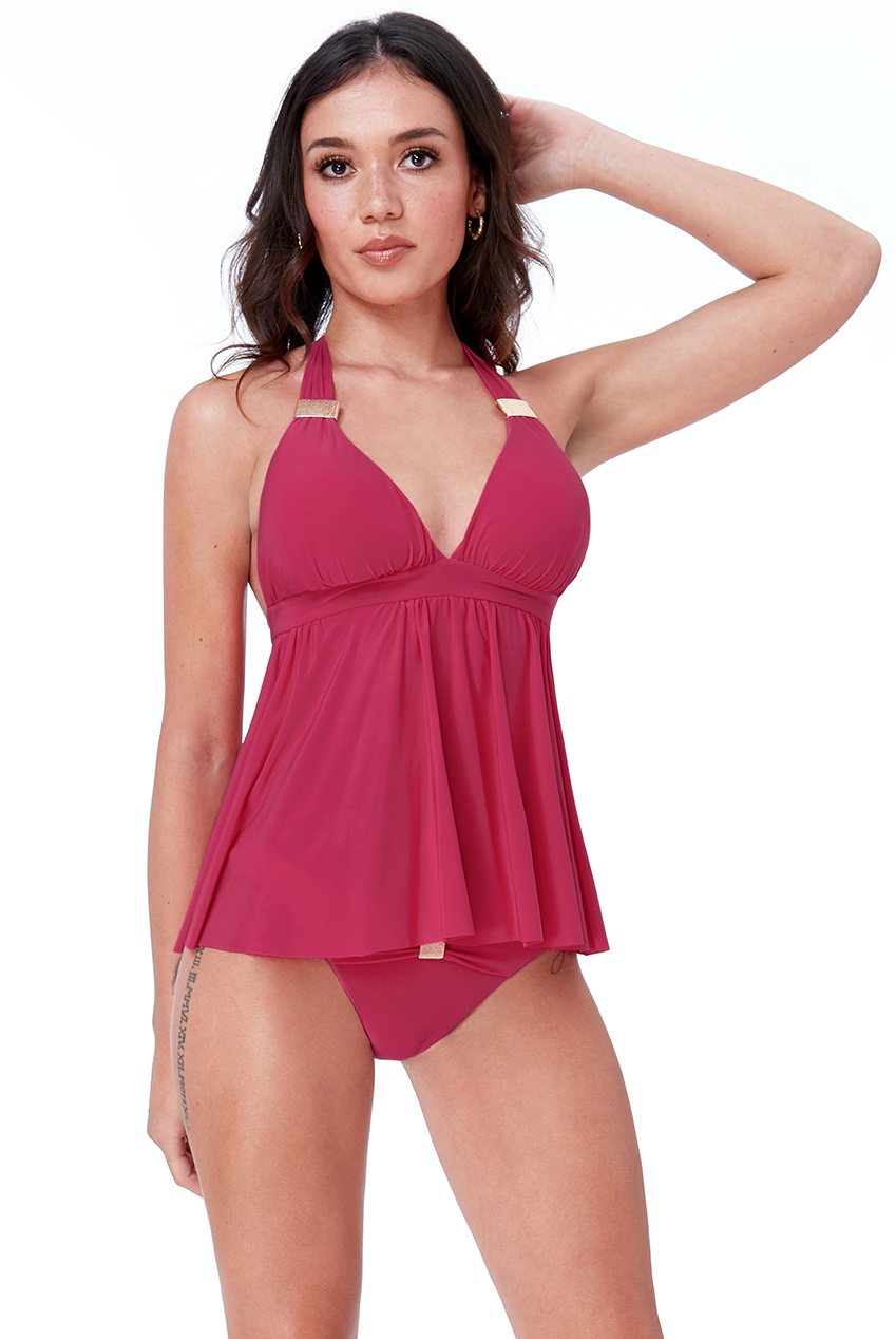 Wholesale Open Back Tankini Set