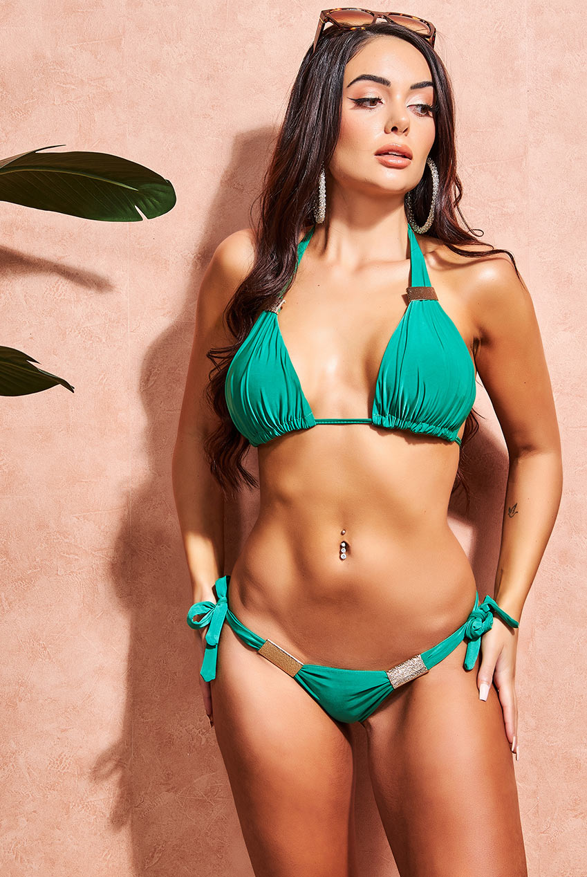 Wholesale Side Tie Bikini with Buckle Detail