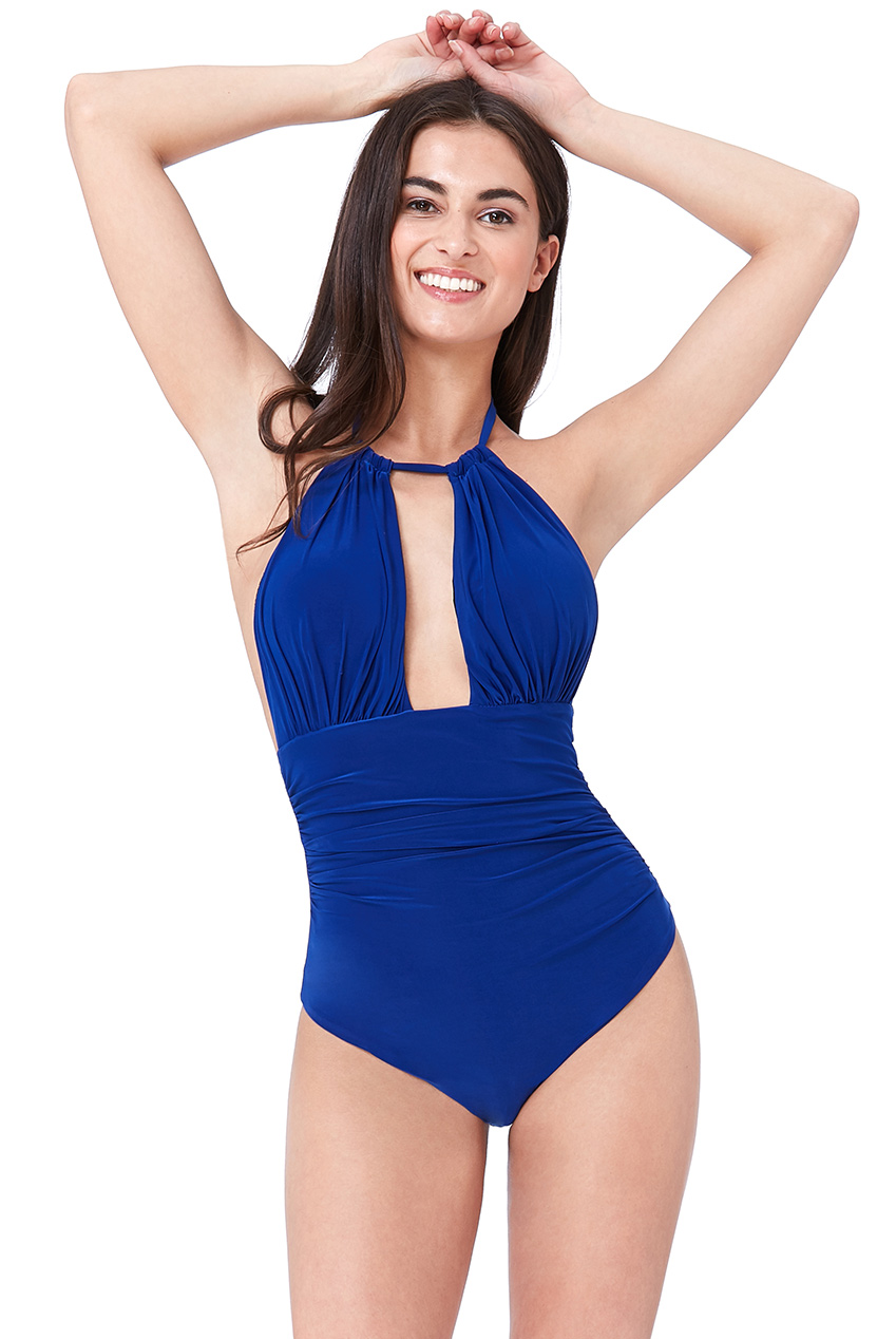 Wholesale Gathered Front Swimsuit