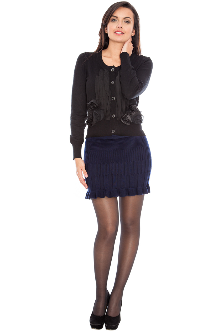 Wholesale Multi rib knitted fluted skate skirt
