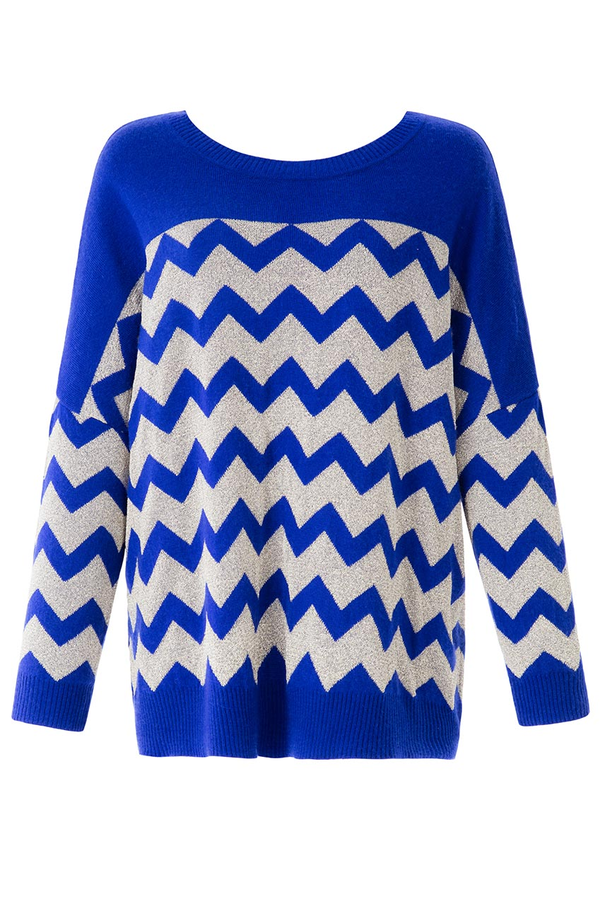 Wholesale Long Sleeved Zig Zag Jumper