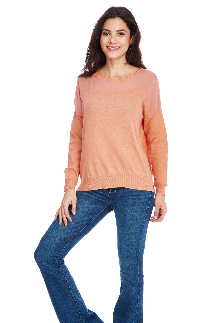 Wholesale Chiffon and Knit Jumper