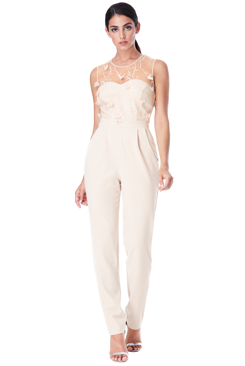 Wholesale Floral Embroidered Jumpsuit
