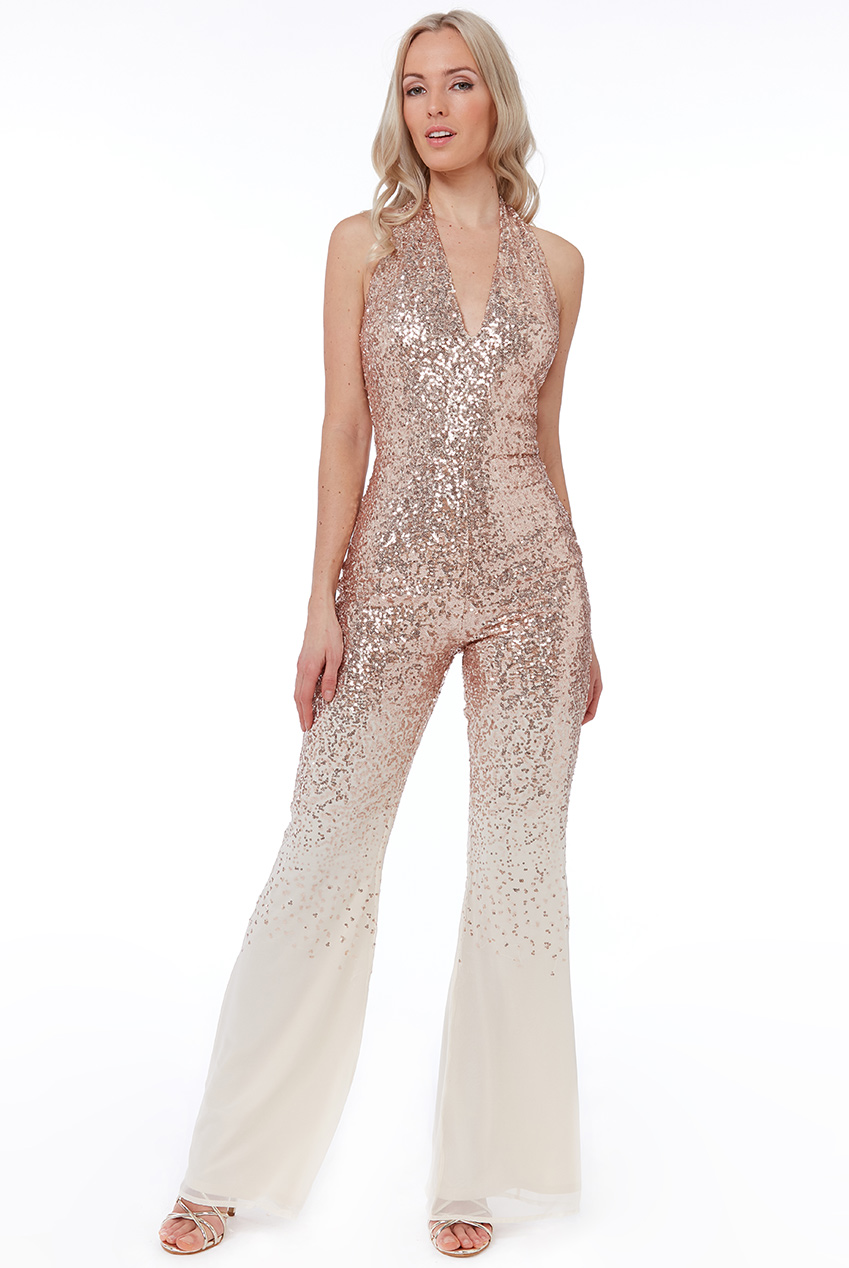 Wholesale Sequin and Chiffon Jumpsuit