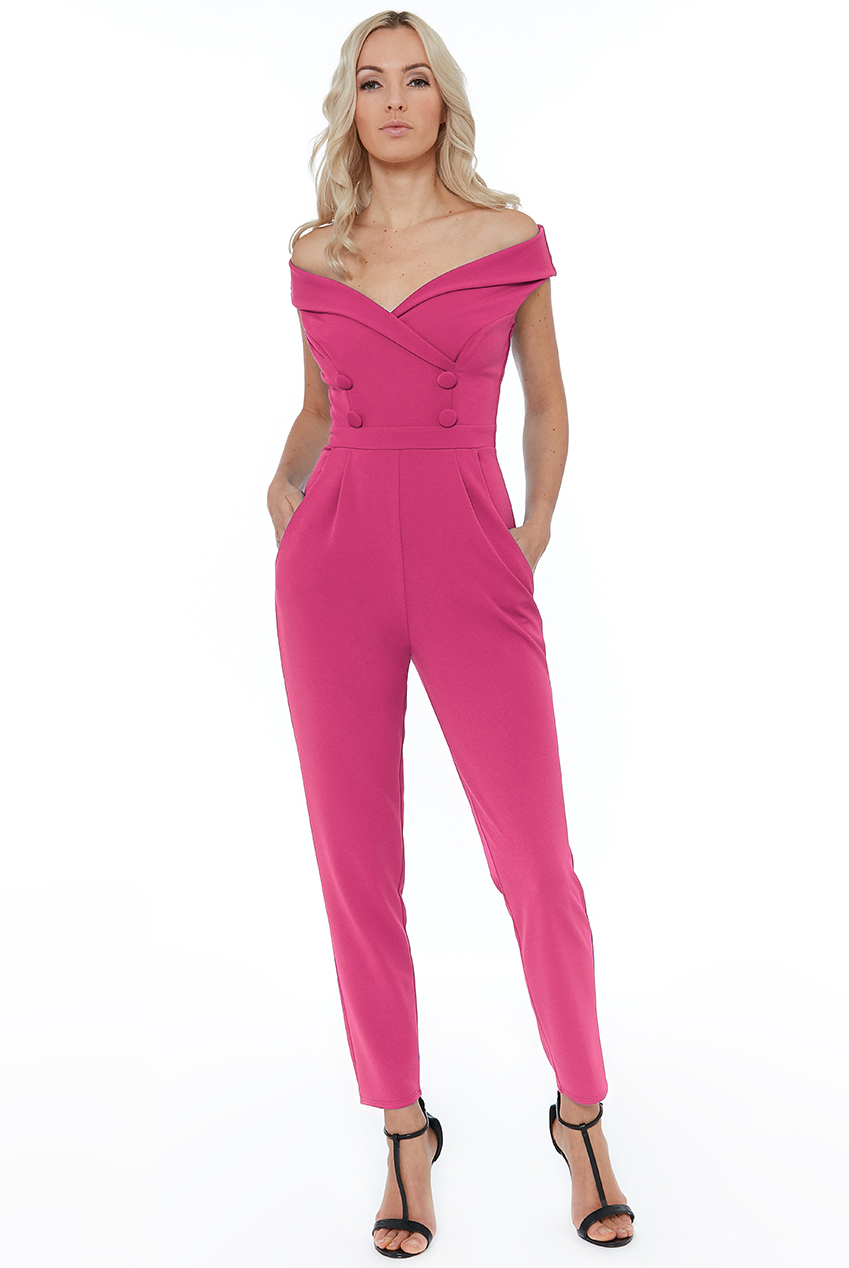 Wholesale Bardot Crossover Jumpsuit