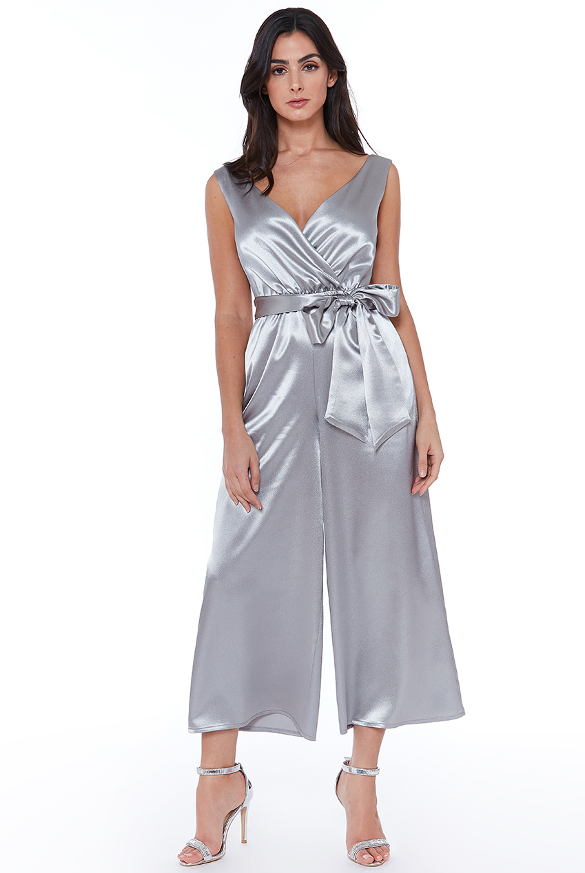 Wholesale Satin Culotte Jumpsuit