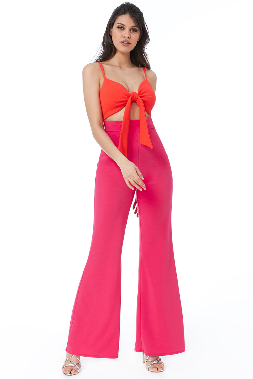 Wholesale Front Bow Tie Jumpsuit