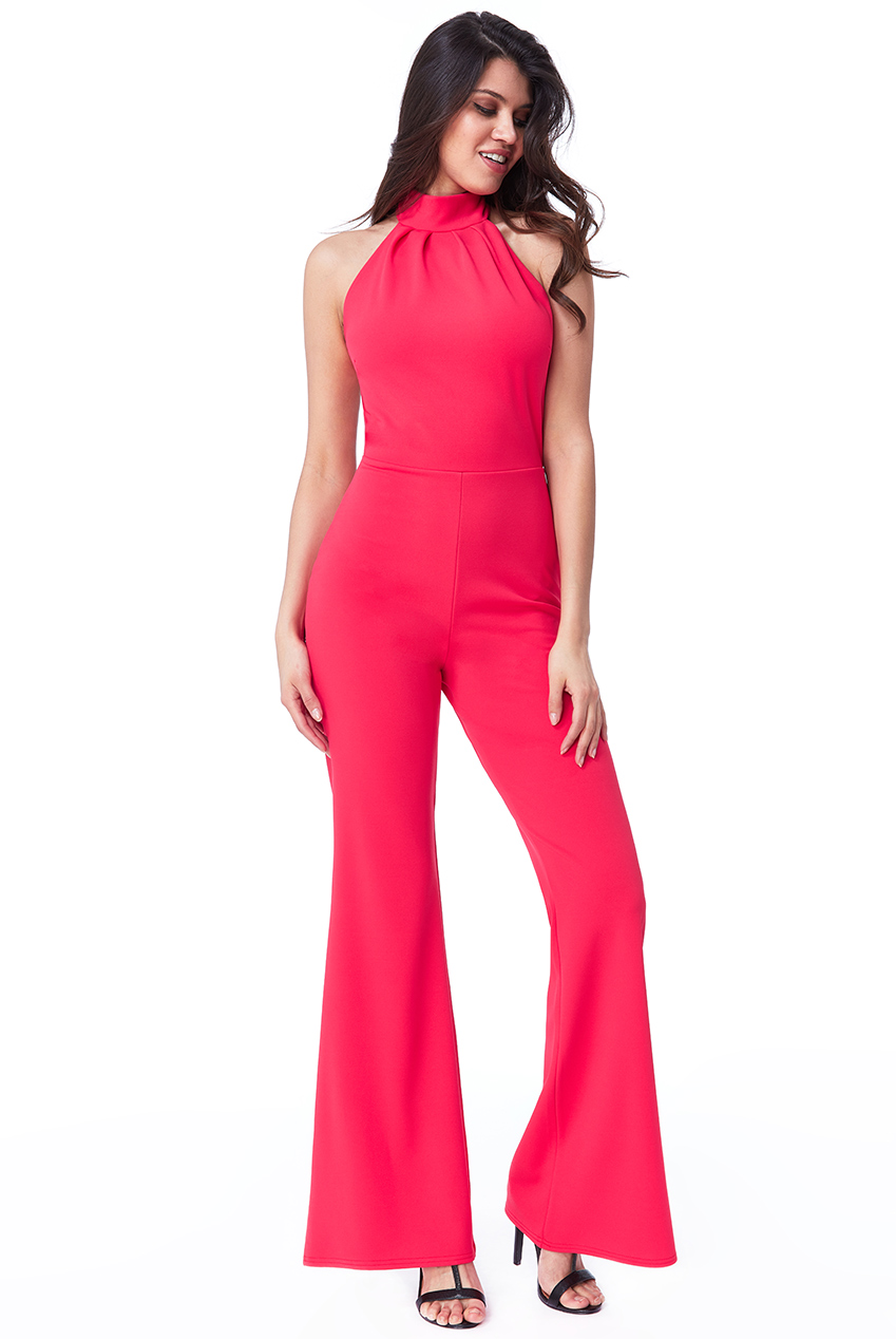 Wholesale High Neck Open Back Jumpsuit