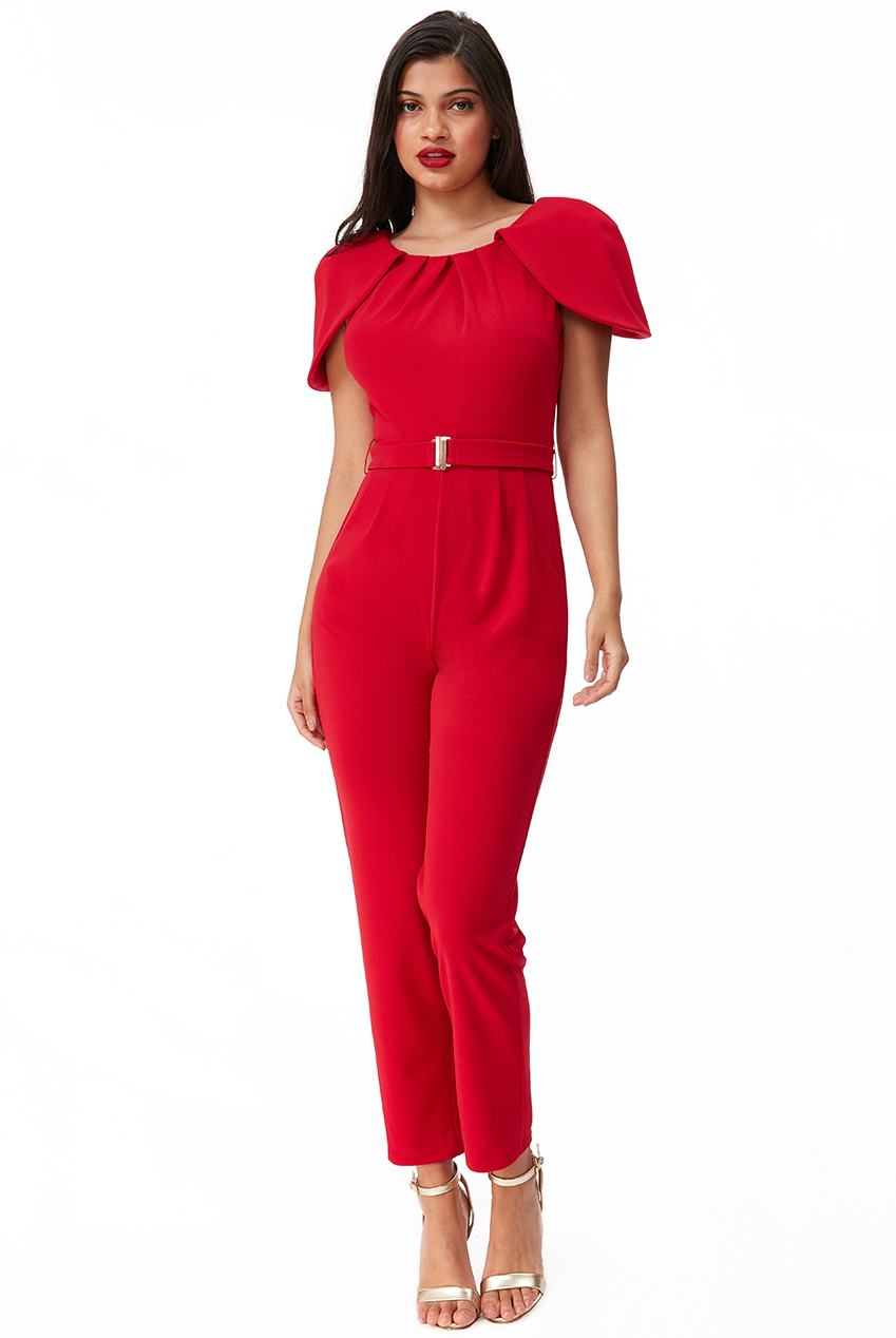 Wholesale Cape Shoulder Jumpsuit