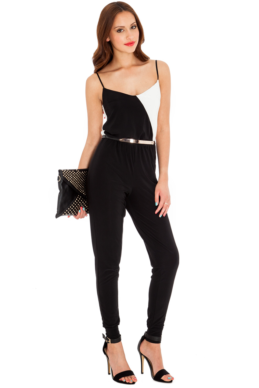 Wholesale Two Tone Strappy Jumpsuit