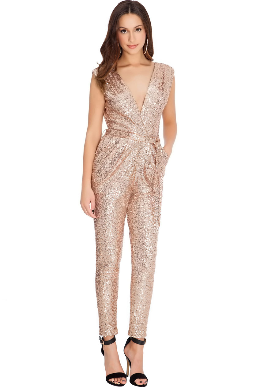 Wholesale Sequinned Jumpsuit