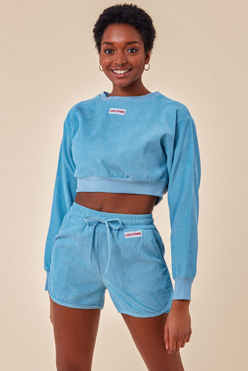 Wholesale Oversized Cropped Jumper & Short Two Piece Set